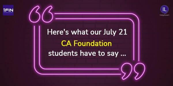 Testimonials CA Foundation July 21