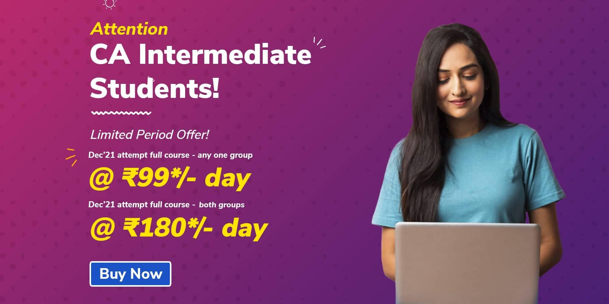 CA Inter Special Offer