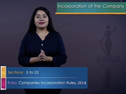 Incorporation of Company and Matters Incidental Thereto